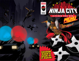 Ninja City Menu Cover