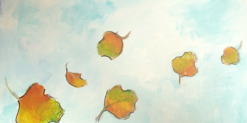 Paint and Wine Automn leaves