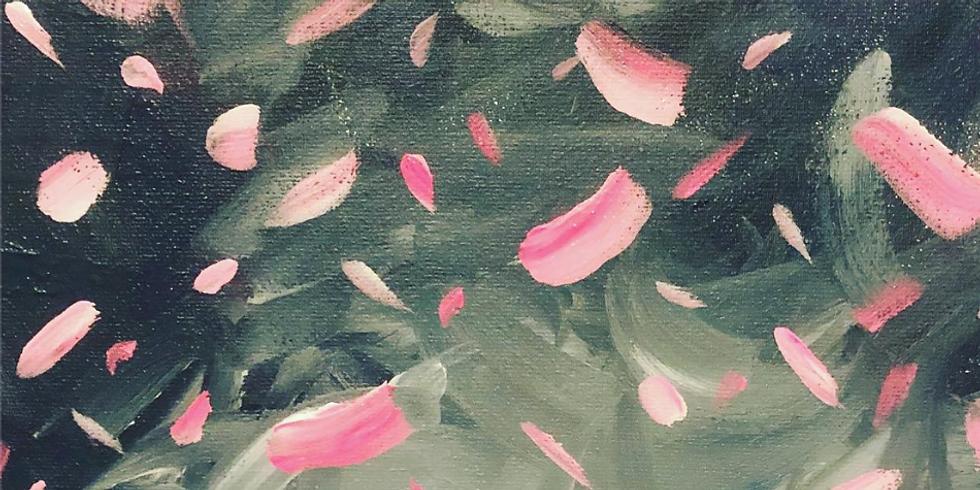 Paint and Wine Confetti rain