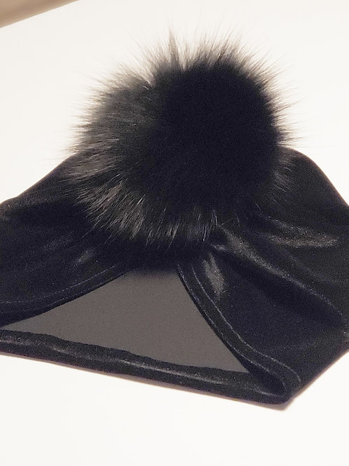 Turban velours noir
