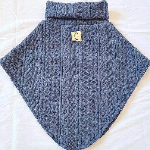 Poncho bleu Denim