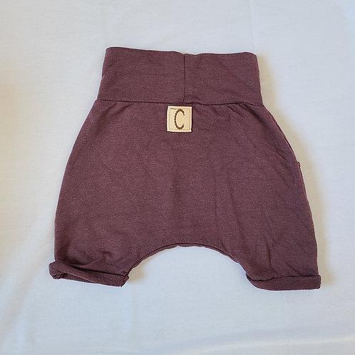Pantalon court vieux mauve