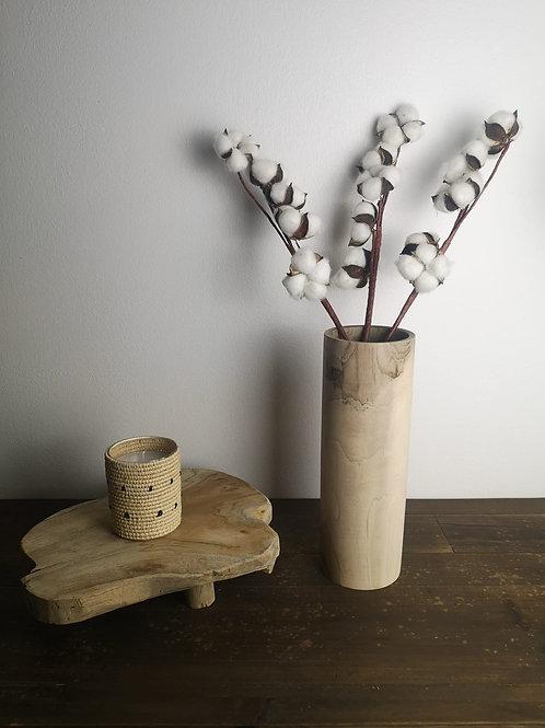 Vase haut en Noyer - 30x10 cm
