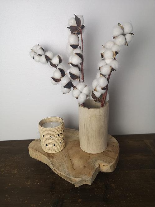 Petit vase en Noyer - 9x16 cm