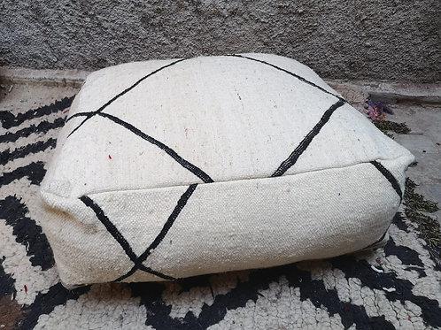 BENI OUARAIN - Pouf berbère carré - 50x50x20