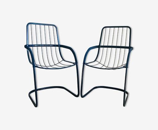 Paire de chaises en métal