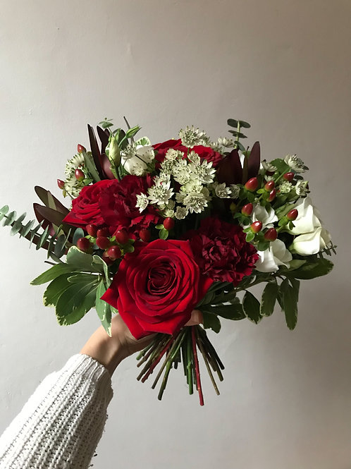 Festive Hand Tied Gift Bouquet