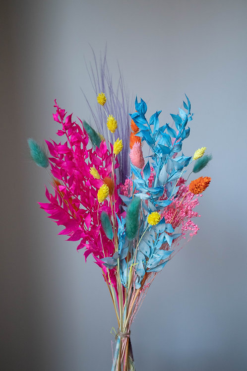 Bright Rainbow Dried Bouquet