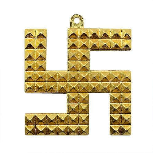 Brass Swastik Pyramid Wall Hanging