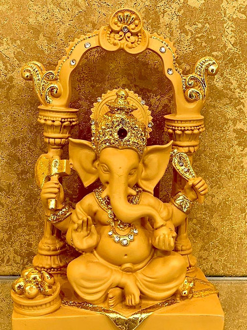 Lord Ganesha Statue in Clay and resin Hand Carved Statue