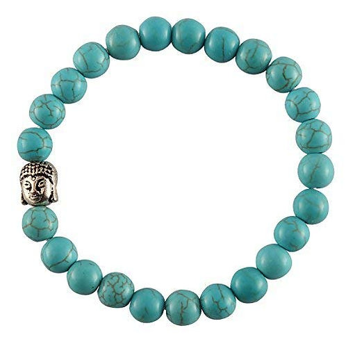Buddha Firoza Turquoise Reiki Healing Stone 8 mm Bracelet Unisex