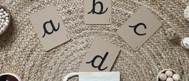 Cursive Alphabet Flashcards