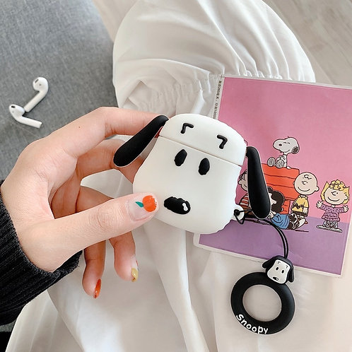 SNOOPY AND BEAR AIRPODS CASE