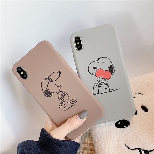 SOFT COLORS SNOOPY CASE