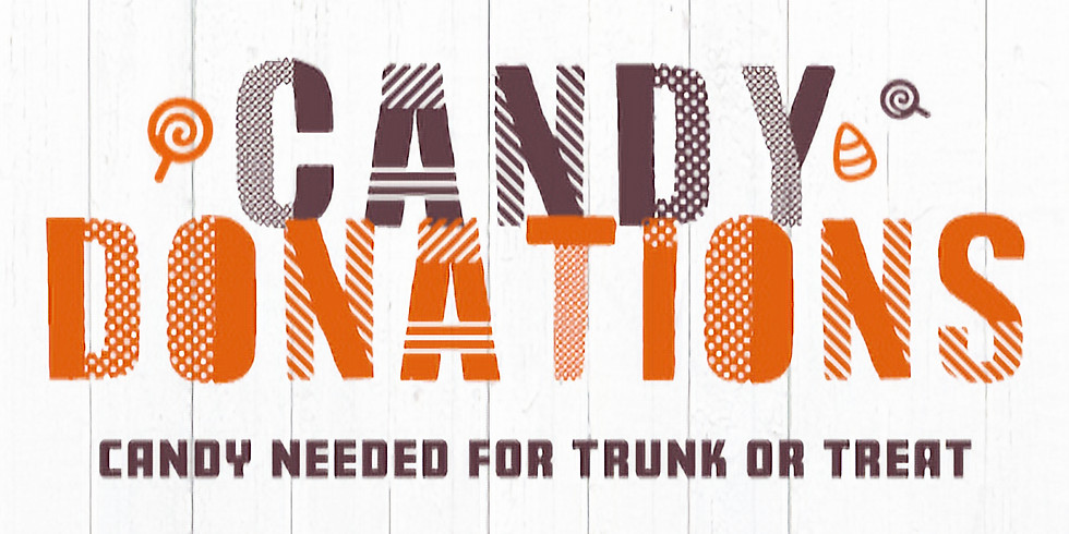 Trunk or Treat Candy Donations