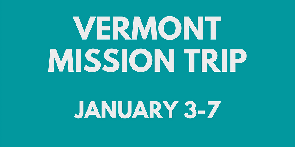Vermont Mission Trip