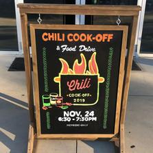 Chili Cook-off Chalk Art