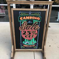 Camping Sale Chalk Art