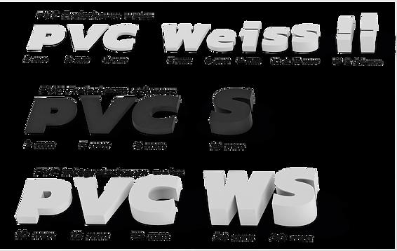 Schriften aus PU und PVC für Werbetechnik, Lichtwerbung und Pylone