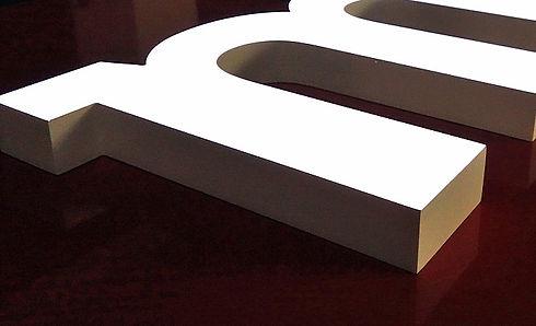 Vollacryl Frontleuchter für Werbetechnik, Lichtwerbung und Pylone