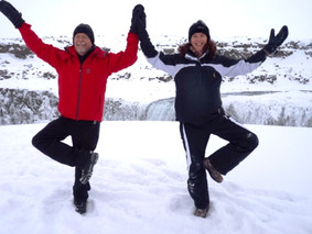 Yoga in northern Iceland welcoming the New Year