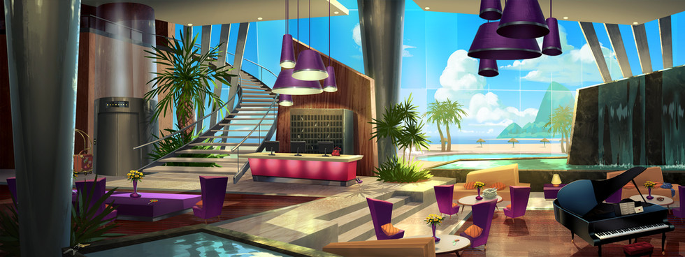CARMEN SANDIEGO - Hotel Lobby