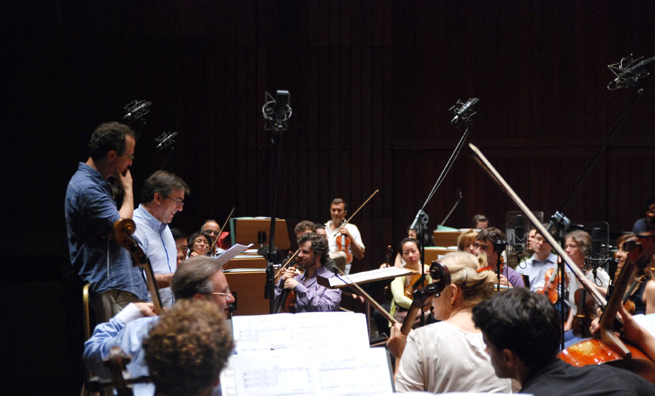 """Gulbenkian Orchestra Recording Session for """"Round Time"""" CD (Naxos 2013) Photo by Sofia Macedo"""