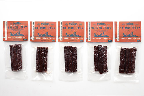 Salmon Jerky :  Cranberry Apricot (Protein Pack - 5)