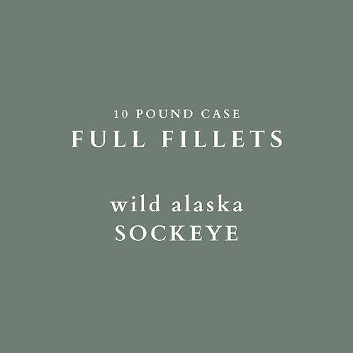 PRE-ORDER: Wild Alaska Sockeye Fillets - 10 lb Case