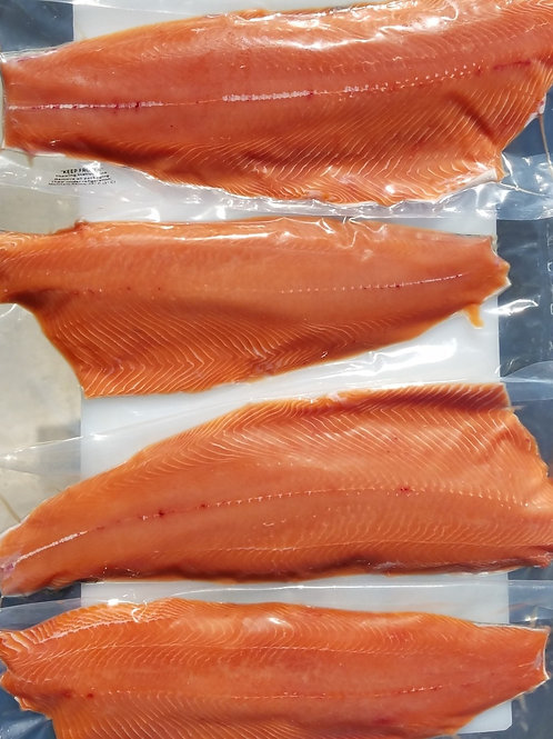 PRE-ORDER: Wild King Salmon Fillets - 30 lb case