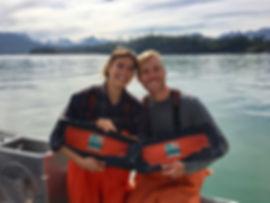 Captain Taran and Kara of Thunder's Catch Seafood