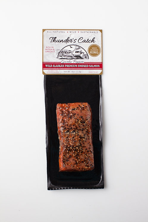 Garlic & Pepper Smoked King Salmon