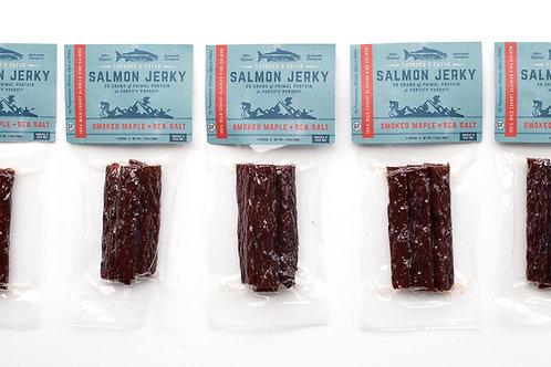 Salmon Jerky : Smoked Maple + Sea Salt (Protein Pack - 5)