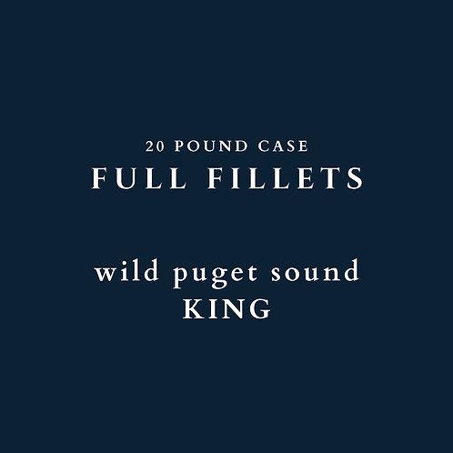 PRE-ORDER: Wild Puget Sound King Fillets - 20 lb Case