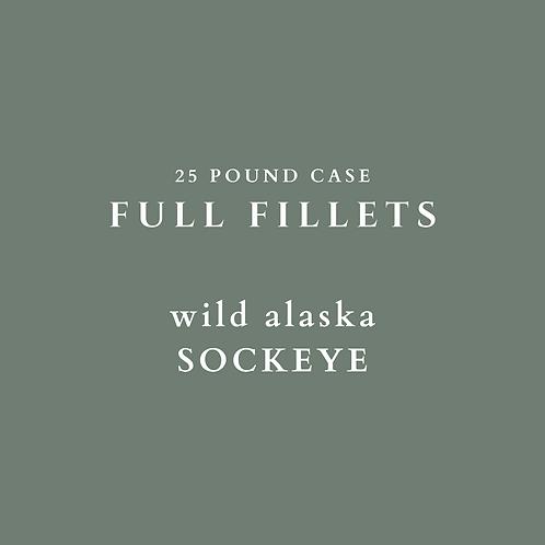 Wild Alaska Sockeye Fillets - 25 lb Case
