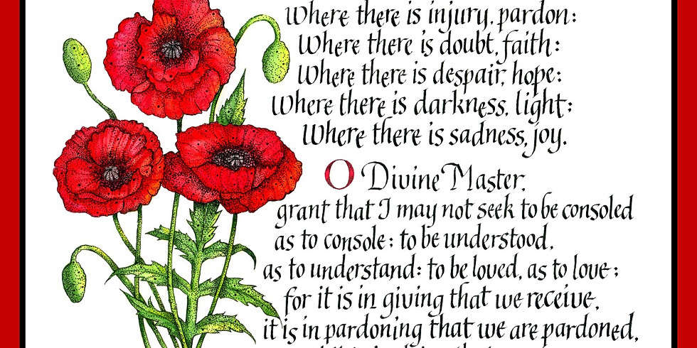 Prayer of St. Francis: A Calligraphy Workshop