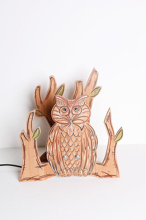 Lampada in legno | GUFO
