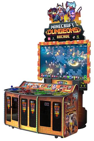 Minecraft Dungeons Arcade, minecraft, raw thrills australia, raw thrills, minecraft raw thrills, minecraft arcade game, video games australia, arcade games australia