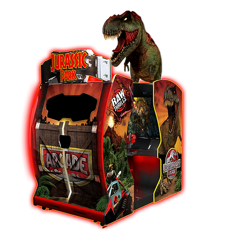 "JURASSIC PARK 55"" AUSTRALIA, VIDEO GAMES AUSTRALIA, RAW THRILLS AUSTRALIA, JURASSIC PARK AUSTRALIA, JURASSIC PARK VIDEO GAME"