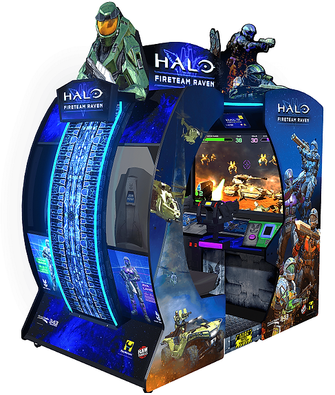 halo fireteam raven, halo arcade game, raw thrills, raw thrills australia, halo raw thrills