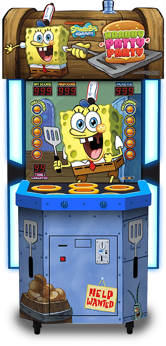 krabby patty party, krabby patty party andamiro, andamiro games, andamiro australia, ticket redemption games, amusement games, amusement games australia