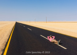Colin Speechley Steph on the road