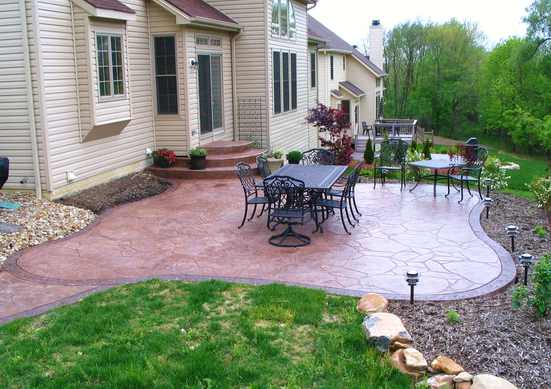 Stamped Concrete Patio 1