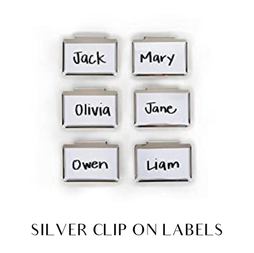 silver clip ons