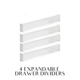 Set of 4 drawer dividers