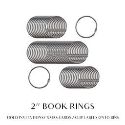 2 INCH BOOK RINGS