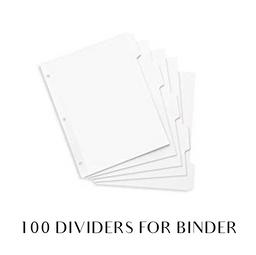 100 dividers for binder