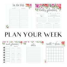 Plan Your Week - Floral Package