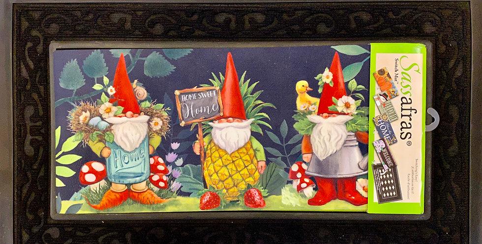Gnomes in the Garden Sassafras Switch Mat