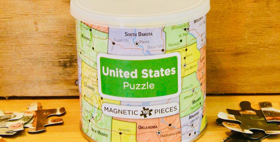 United States Magnetic Puzzle